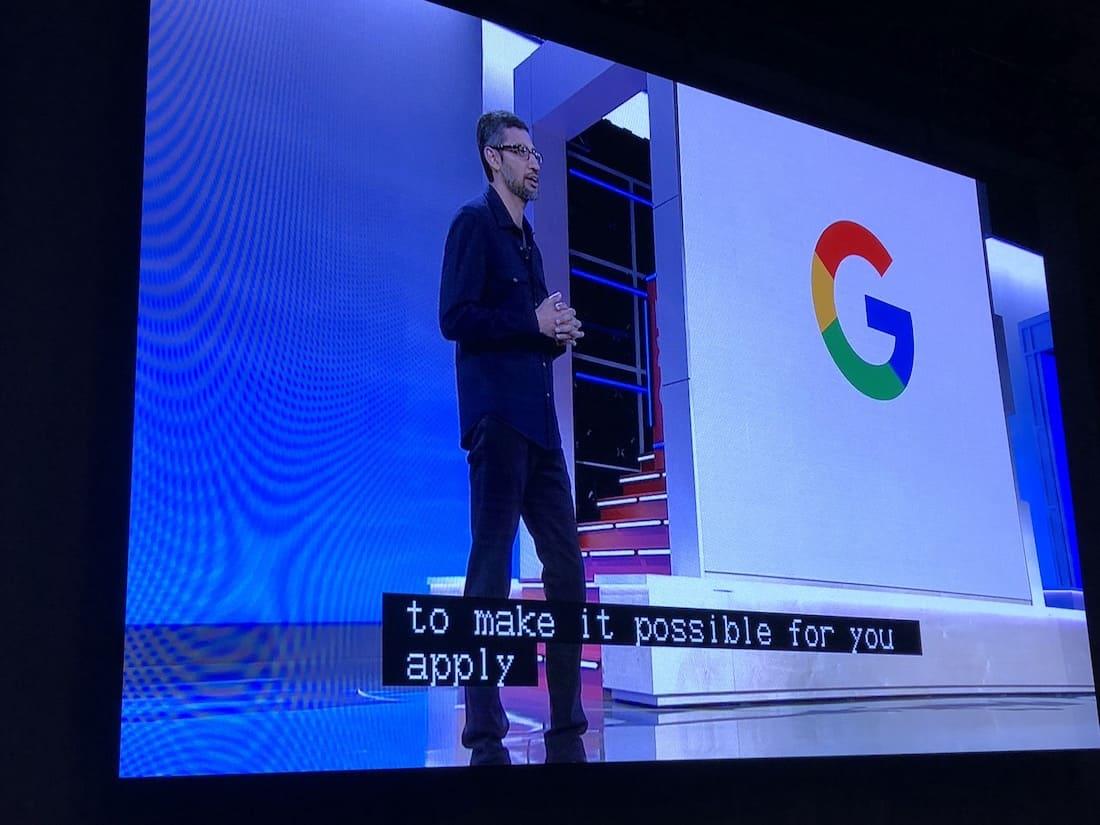 Sundar Pichai at Google Cloud Next 2018