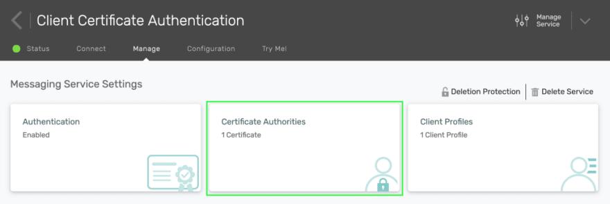Screenshot to click on Certificate Authorities