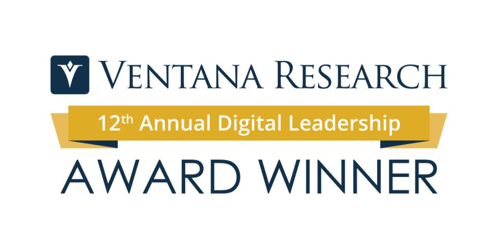 Ventana Research 12th Annual Digital Leadership Award