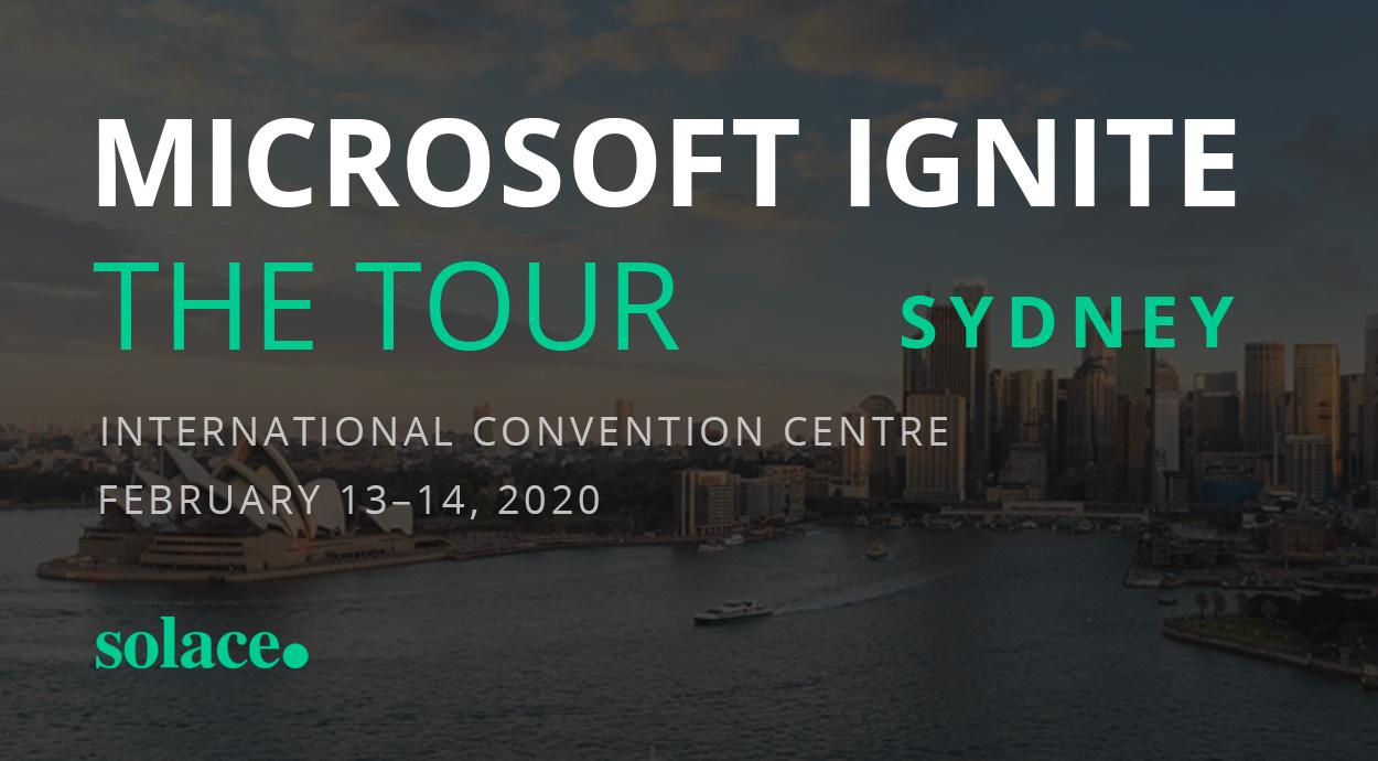 Events Microsoft Ignite Sydney