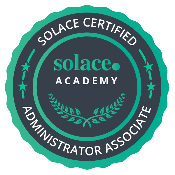 Solace Certified Event Broker Administrator - Associate Badge