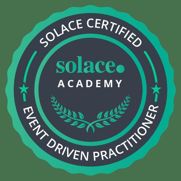 Solace Certified Event Broker Administrator - Associate Badge