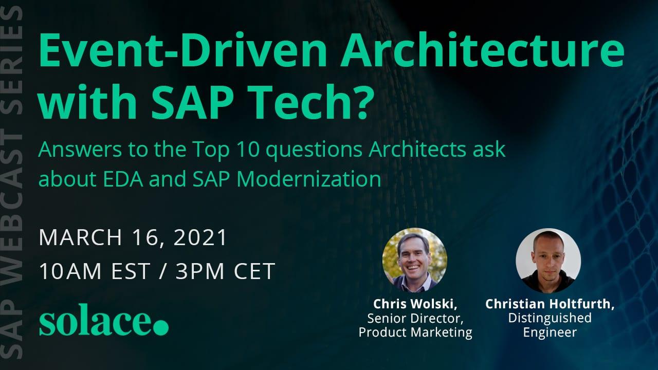 Event-Driven-Architecture with SAP Tech Webcast