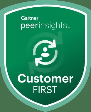 CustomerFirst Gartner Badge